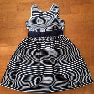 Gymboree navy and white striped party dress